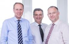 Die BurSped-Geschäftsführung: Stefan Seils, Bernd Jacobsen, Matthias Welter